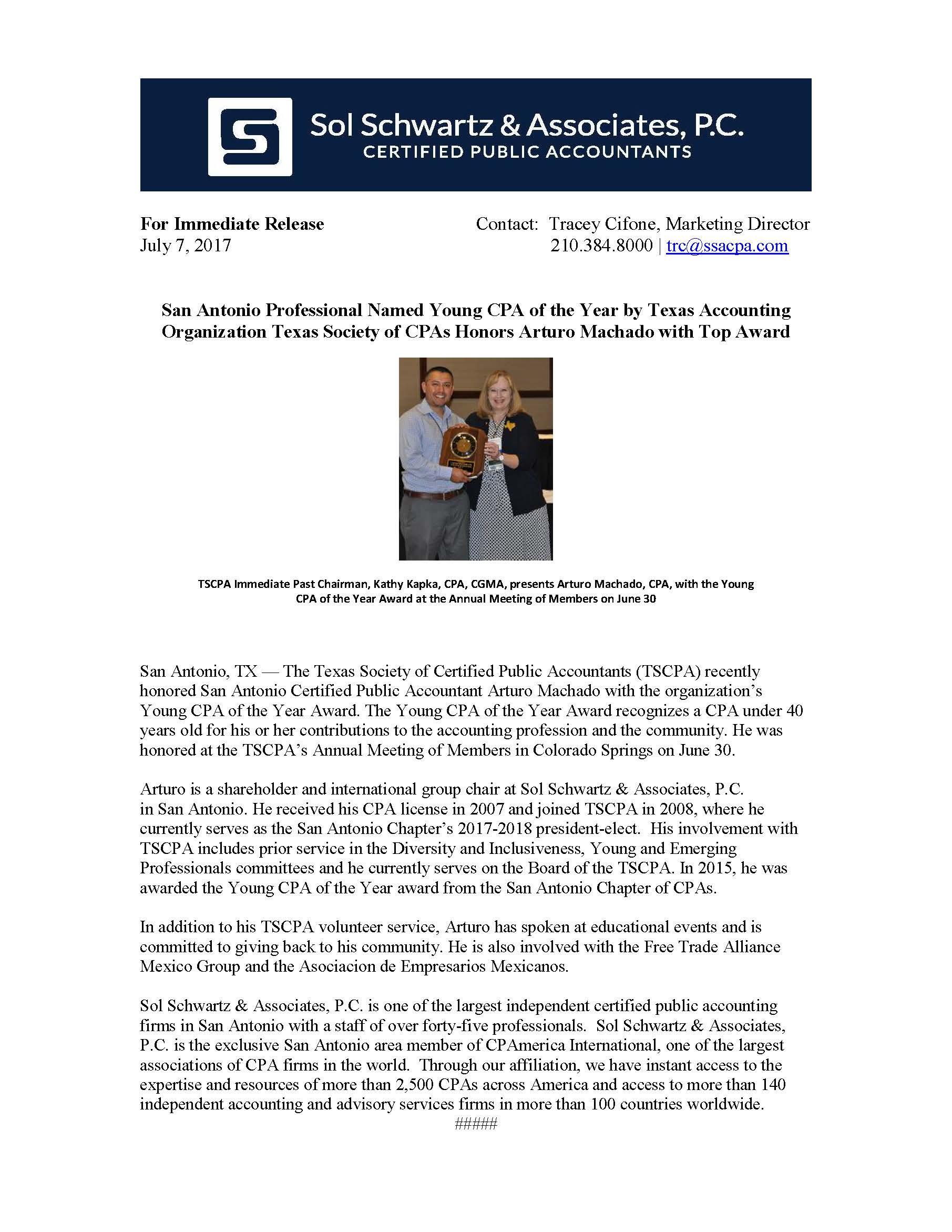 Press Releases Sol Schwartz
