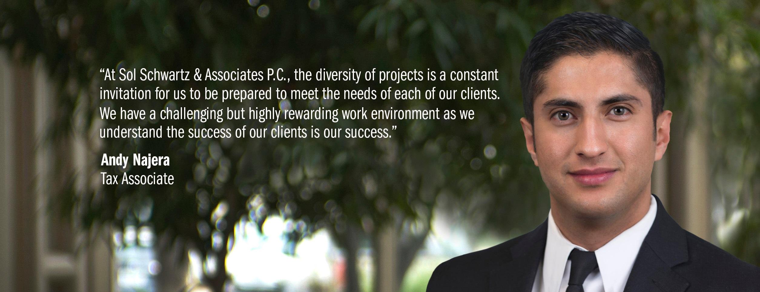 Sol Schwartz & Associates - Careers Testimonials
